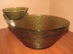 Anchor Hocking Avocado 4 Quart Bowl w/Dip Dish