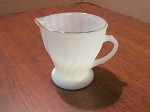 Anchor Hocking Glass Co Fire King Creamer Golden