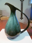 Blue Mountain Pottery Green Tall Decor Pitcher - Mold #23