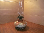 Climax Burner Porcelain Oil Lamp With Metal Base