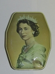 Horner's Blue Boy Toffee Tin - 1953 Coronation Of H.M. Queen Elizabeth