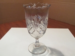 Flint Glass Co. Clear Pressed Glass Celery Vase
