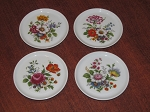 Furstenburg Porcelain Set of 4 Coasters/ Ashtrays - West Germany