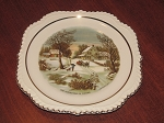 Harker Pottery Co. Currier & Ives Plate
