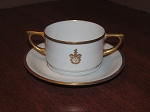 Hutschenreuther Of Selb Porcelain Two Handled Cup & Saucer - Bavaria