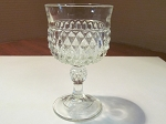 Indiana Glass Co Clear Pressed Glass Wine Glass