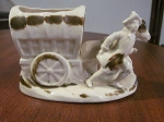 Made In Japan Porcelain Covered Wagon Planter - Japan