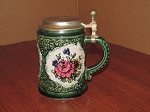 Marzi & Remy Pewter Lid Porcelain Stein - Germany