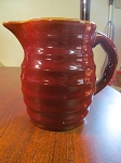 Medalta Potteries Ribbed Milk Pitcher