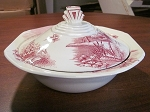Palissy Pottery Lakeland Pink Covered Serving Dish - England