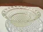 Imperial Glass Co Clear Pressed Glass Coupe Soup Bowl