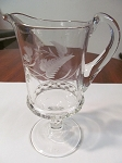 Ripley & Co Pressed Glass Footed Creamer