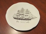 Rorstrand China Plate Designed For The Swedish American Line