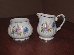 James Sadler & Sons Ltd Windsor Creamer & Sugar Bowl - Made in China
