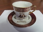 Saji China Teacup & Saucer