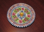 Sevillarte Pottery Hand Painted Wall Plate (Signed) - Spain