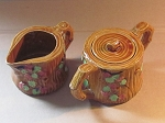 Made In Japan Porcelain Creamer And Sugar Bowl Set