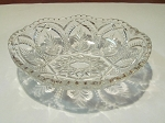 US Glass Co Pressed Glass Clear Olive Dish