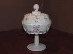 Westmoreland Glass Co. Milk Glass Covered Compote