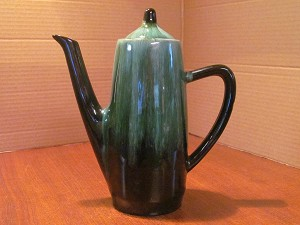 Blue Mountain Pottery Green Coffee Pot