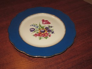 Tettau G.m.b.H. Royal Bayreuth Dinner Plate 'Ardalt Royal Blue' - Bavaria