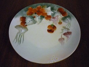 "Niedersalzbrunn Hermann Ohme Porzellan Dinner Plate ""Strawberries"" - Silesia Germany"