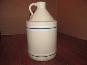 Toronto Pottery Co. Blue & White Banded Shoulder Jug