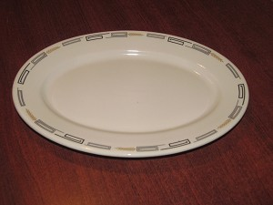 "Syracuse China 12"" Oval Serving Platter ""Deville"""