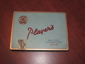 "Player's Navy Cut ""Mild"" Cigarette Tin"
